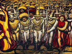 Siqueiros' rendition of La Revolucion Mexicana