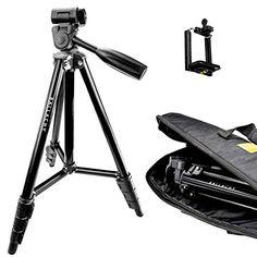 Ballachy DSLR Tripod, Compact and Lightweight Aluminium Camera Tripod, Phone Tripod, Spotting Scope Tripod, Vlogging Tripod with Panhead