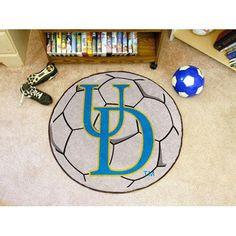 Delaware Fightin Blue Hens NCAA Soccer Ball Round Floor Mat (29)