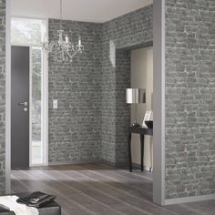 Add style to a teen bedroom with this trending brick effect wallpaper from Rasch. Rasch wallpaper is available at Go Wallpaper UK. Brick Effect Wallpaper, Charcoal Wallpaper, Cream Wallpaper, Wallpaper Uk, Silver Wallpaper, Brown Wallpaper, Designer Wallpaper, Rustic Design, Rustic Style