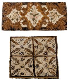 Two American floral hooked rugs, late 19th c., 62 : Lot 536