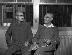 Japanese War Criminals (Hideki Tojo (right) and Shotatsu Kimura) - U797536ACME - Rights Managed - Stock Photo - Corbis. May 09, 1946