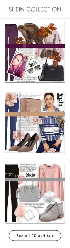 """""""SHEIN COLLECTION"""" by mini-kitty ❤ liked on Polyvore featuring shein, 2LUV, Balmain, Pussycat, Ray-Ban, River Island, Anja, rag & bone, Givenchy and Kershaw"""