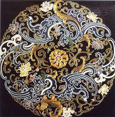 Точечная роспись Chinese Prints, Thai Pattern, Chinese Element, Chinese Design, Chinese Style, Chinese Patterns, Chinese Embroidery, China Art, Oriental Pattern