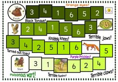 Build Your Own Gruffalo Game: Game with a jigsaw theme. Players move around the board collecting jigsaw pieces to make their own Gruffalo. Plenty of things to discuss around game board Gruffalo Eyfs, Gruffalo Activities, The Gruffalo, Activities For Kids, Maths Eyfs, Numeracy, Learning For Life, Literacy Games, Inspired Learning