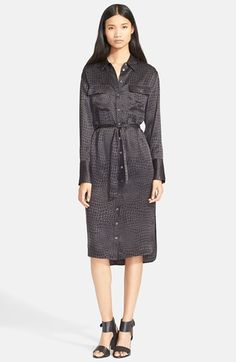 Equipment 'Delany' Alligator Print Silk Shirtdress available at #Nordstrom