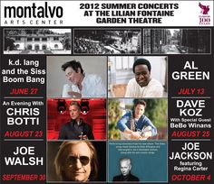 Tickets to Montalvo Summer 2012 concerts at the Liliane Fontaine Garden Theatre go on sale tomorrow at 10am! You don't want to miss these incredible shows! For more information and to buy tickets, visit LiveNation.com