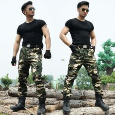 Camouflage Army Military Pants Men Special Force Hunter Home Sweat Thin Pantalon #Unbranded #Casual