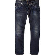 Dark wash Jack & Jones Vintage slim jeans - slim jeans - jeans - men