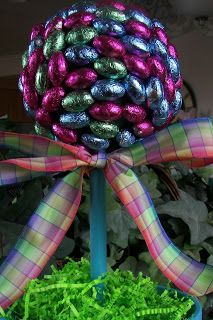 Red Couch Recipes: Chocolate Egg Easter Topiary