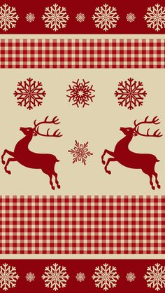 Reindeers and Snowflakes Pattern #iPhone #5s #Wallpaper | Download more in http://www.ilikewallpaper.net/iphone-5-wallpaper/.