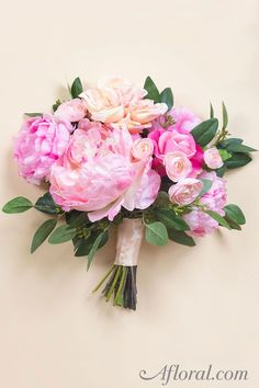 DIY Bride? Make your own wedding bouquet with premium artificial flowers from Afloral.com.