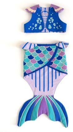 Toddler Girl's Lovelane Mermaid Costume Set
