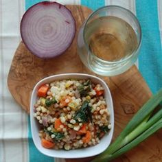 Pearl Couscous with Lentils, Carrots, Spinach, and Corn - Allrecipes.com