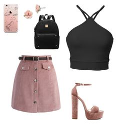 A fashion look from February 2017 featuring cropped shirts, pink skirt and high heeled footwear. Browse and shop related looks. Steve Madden, Outfit Ideas, Shoe Bag, Polyvore, Pink, Stuff To Buy, Outfits, Shopping, Collection