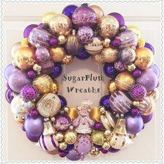 Chic Purple Vintage Ornament Wreath  Large 20 by SugarPlumWreaths