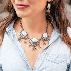 50% off this Statement Necklace #blackfriday2017! Aventine Fringe gives your look a little world-traveler flair! Inspired by #Rome  www.chloeandisabel.com/boutique/candydanbury/products/N379/aventine-convertible-statement-necklace