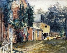 Frederick Childe Hassam >> Old House, Nantucket