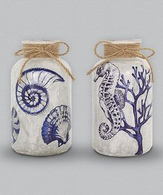Another great find on #zulily! Glass Light-Up Jar - Set of Two #zulilyfinds