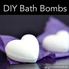 diy natural bath bombs