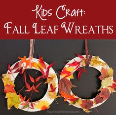 Kids Craft: Fall Leaf Wreath - Simply Designing with Ashley Autumn Activities For Kids, Fall Crafts For Kids, Crafts To Do, Diy For Kids, Fun Activities, Easy Crafts, Leaf Crafts Kids, Toddler Crafts, Preschool Crafts
