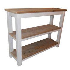 Side table Recht model  met een 2  Schappen, Keuze uit diverse afwerkingen.