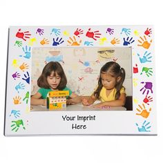 Full-color Frame, 4 in. x 6 in. - Handprints - Here is a graduation gift that parents will love to receive and display of their preschool or kindergarten graduate. Kindergarten Graduation Gift, Kindergarten Gifts, Graduation Cap And Gown, Stage Decorations, The 4, Early Childhood, Parents, Teacher, Display