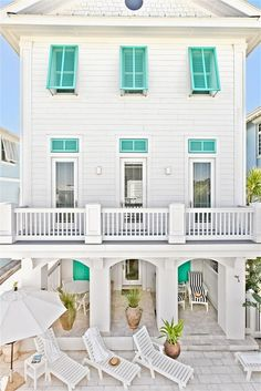 This is the prettiest little beach house! My dream home. House of Turquoise: Bahama Mama Beach Cottage Style, Coastal Cottage, Coastal Homes, Beach House Decor, Coastal Style, Home Decor, Beach Homes, Coastal Living, Coastal Bedrooms