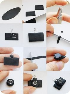 Mimin Dolls: mini camera from clay tutorial, photos only