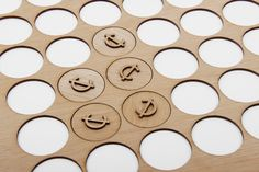 TOKENS!  Wooden tokens for craft retail site Cheap Labor designed by Sciencewerk