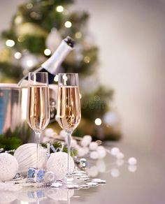 Photo about New Year Celebration. Two Champagne Glasses. Image of bubbly, celebration, fizzy - 22419879 Champagne Quotes, Champagne Drinks, Champagne Glasses, Christmas Wine, Christmas And New Year, Christmas Food Photography, New Years Countdown, Party Like Its 1999, Wine Photography