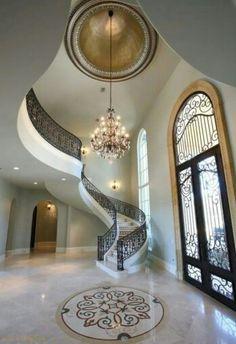 Glamorous Living Grand Entrance | Via LadyLuxury
