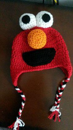 @stitchesoffthehook crochet elmo hat Crochet Cap, Crochet Quilt, Crochet Mittens, Crocheted Hats, Elmo, Animal Hats, Crochet For Boys, Crochet Videos, Sleeping Bag