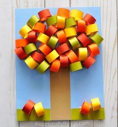 Fall crafts for Kids -Fun and easy arts and crafts projects. Pumpkin crafts, fall art projects, Halloween crafts, fall leaf crafts for kids of all ages. Fall Paper Crafts, Fall Arts And Crafts, Easy Fall Crafts, Bird Crafts, Tree Crafts, Spring Crafts, Diy Paper, Tissue Paper, Fall Crafts For Toddlers