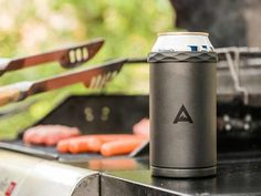 Think of the Corkcicle Arctican Can Cooler as a koozie on steroids. It uses a vacuum-sealed double-walled stainless steel container to hold in the chill. If that is not enough, it comes with a bottom screwed on cooling core to keep your beer cool for up to an amazing 3 hours.