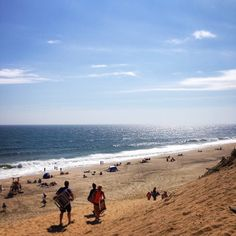 Cahoon Hollow Beach in Wellfleet, MA courtesy of @colsviolin on Instagram.