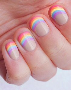 From doing nails for prom to the Essie Nail Art Awards. New Nail Art, Cute Nail Art, Cute Nails, Pretty Nails, My Nails, Pastel Nail Art, Nails For Kids, Girls Nails, Tie Dye Nails