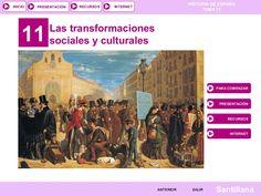 T. 11 Transformaciones sociales y culturales (2014) by Isabel Moratal via slideshare
