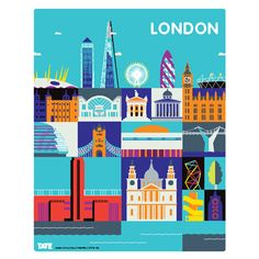 Andy Tuohy London (poster) - Tate Modern shop - £10