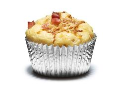 Ham and Cheese Muffins (No. 44) : Mix 2 cups flour, 1 cup shredded havarti, 2/3 cup diced ham, 1/4 cup grated parmesan and 1 small chopped caramelized onion, 1 tablespoon sugar, 2 teaspoons baking powder and 3/4 teaspoon salt. Whisk 1 1/4 cups milk, 1 egg and 2 tablespoons melted butter; fold into the flour mixture. Divide among 12 prepared muffin cups and bake at 400 degrees F, 16 to 20 minutes.