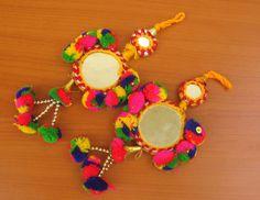 Tassels/ tribal tassels/ mirror tassels/ decorative tassels/ boho tassels/ multicolored tassels.2 pcs. by vibrantscarves on Etsy