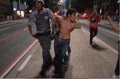 Kid arrested  #Brazil #Black Bloc #ContraaCopa #arrested #manifestação #demonstration #riot #2014 World Cup Curta! Compartilhe! Veja mais no meu site: Tumblr - https://gustavogoncalvesfotografia.tumblr.com