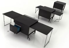 A Transformable Desk Called Kkanapètko by Krassi Dimitrov