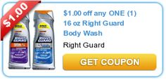 $1.00 off any ONE (1) 16 oz Right Guard Body Wash