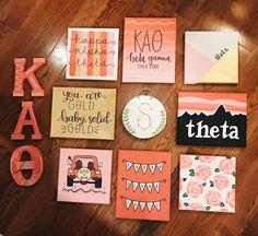 KAO, Kappa Alpha Theta Kappa Alpha Theta, Alpha Phi Omega, Delta Phi Epsilon, Kappa Delta Canvas, Phi Mu Canvas, Phi Sigma Sigma, Tri Delta, Chi Omega, Big Little Basket