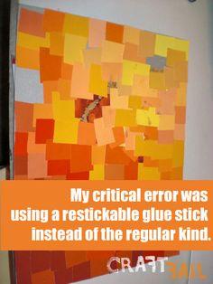 My paint chip art craft fail :)