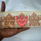 Pure Silk Indian Sari Border Trim By The Yard Decorative Trims