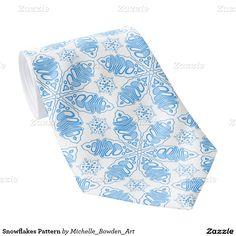 Snowflakes Pattern Tie