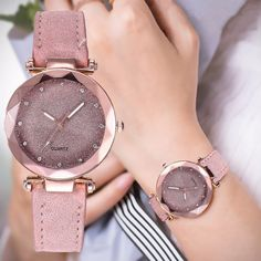 New Luxury Rhinestone Bracelet Watch Women Starry Sky Watches Ladies Wristwatch Relogio Feminino Reloj Mujer Montre Femme Clock Bracelet Cuir, Bracelet Watch, Calvin Klein Femmes, Accesorios Casual, Fashion Watches, Women's Watches, Wrist Watches, Luxury Watches, Ladies Watches