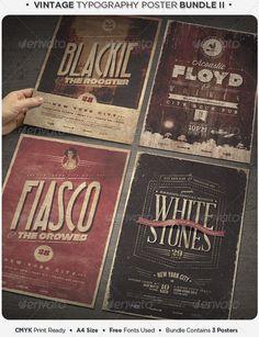 Vintage Typography Poster Bundle II